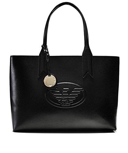 Emporio Armani Logo Shopping Donna Handbag Nero