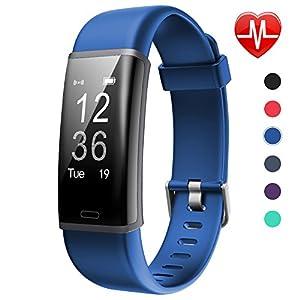 Lintelek Fitness Tracker HR Aktivität Tracker Fitness Armband mit integrierter Herzfrequenzmessung am Handgelenk IP67 Wasserdicht Fitness Uhr mit GPS Schlaftracker Kalorienzähler MEHRWEG