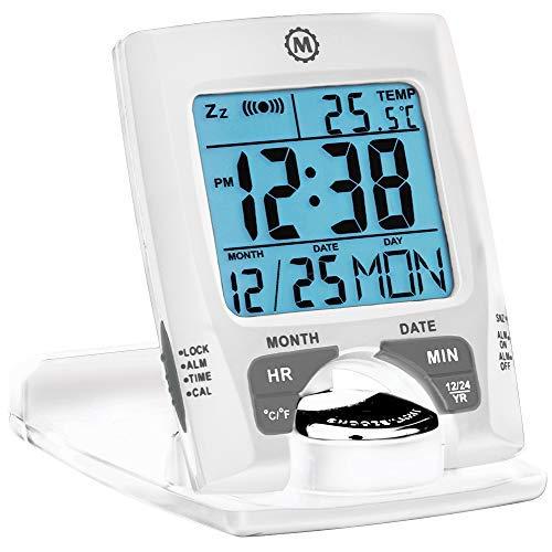 Marathon CL030023 - Reloj Despertador de Viaje con Calendario y Temperatura, Funciona como...