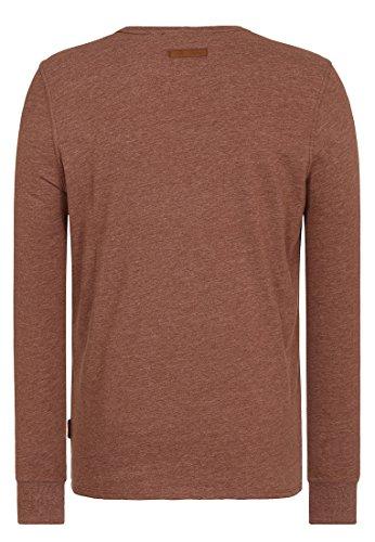 Naketano Male Sweatshirt Italienischer Hengst Langen V Brown Melange