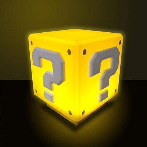 Lámpara de mesa mini Caja Sorpresa, 10 cm. Súper Mario Bros. Con sonido