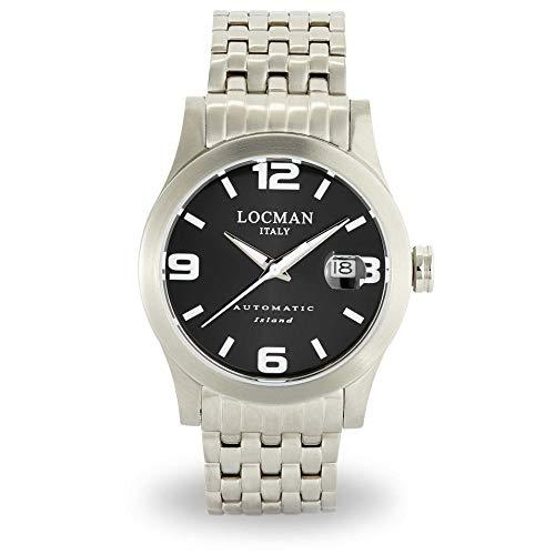 orologio meccanico uomo Locman Island casual cod. 0615V01-00BKWBR0