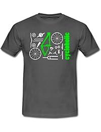 MTB Teile Cycloholic Mountainbike Komponenten Männer T-Shirt von Spreadshirt®