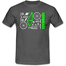 MTB Cycloholic Mountainbike Komponenten Männer T-Shirt von Spreadshirt®