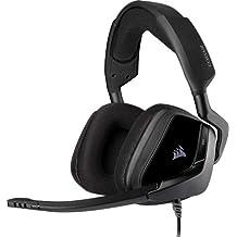 Corsair Void Elite Surround Auriculares para Juegos, 7.1 Sonido Envolvente, Micrófono omnidireccional, Compatible con PC, PS4, Xbox One, Switch y Móviles, Color Negro
