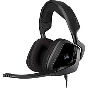 Corsair VOID ELITE Surround Gaming Headset (7.1 Surround Sound, Mikrofaser und Memory-Schaumstoff Ohrpolster, für PC…