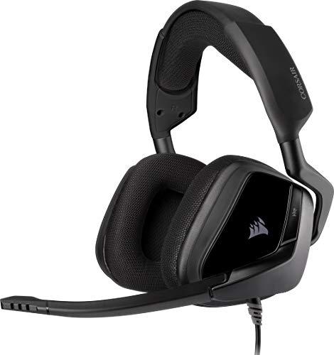 Corsair Void Elite RGB Surround Gaming Headset (7.1 Surround Sound, iCUE RGB-Beleuchtung, Mikrofaser und Memory-Schaumstoff Ohrpolster, für PC, Xbox One, PS4, Switch und Mobilgeräte) carbon