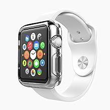 [Lot de 2] Apple Watch 38mm Series 2 / Series 3 Coque, iVoler® [Liquid Crystal] Case Coque Housse Etui Ultra Hybrid TPU Silicone,[Extrêmement Mince Souple et Flexible] [Peau Transparente] [Shock-Absorption Bumper et Anti-Scratch Effacer Back] pour Apple Watch 38mm Series 2 2016 / Series 3 2017 (Bumper - HD Clair) -Garantie de Remplacement de 18 Mois