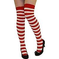 Crazy Chick Women Stripe Over The Knee Socks Thigh High Girls Stretchy OTK Socks Fancy Dress