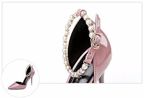 FLYRCX Sexy europeo brevetto appuntita tacchi alti con una bella signora scarpe di partito B