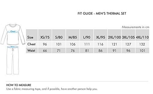 Lux Cottswool Men's Cotton Thermal Set (COTT_Blue_FS_RN_TRO_Set_80)