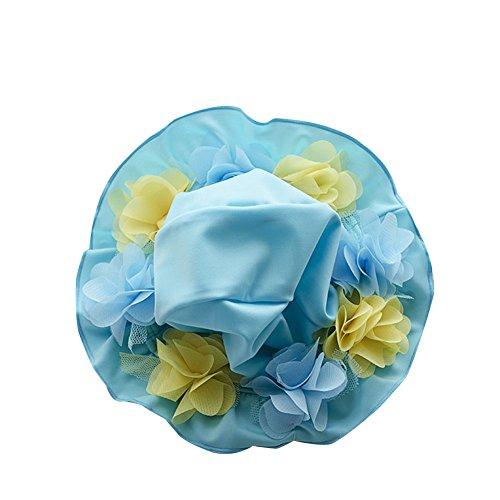 Baby Kind Mädchen Bademütze UV-Schutz Mütze Kappe Hut Blau