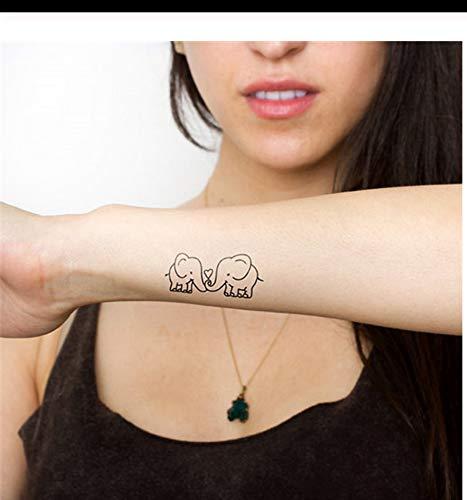 Abnehmbare Temporäre Tätowierung Aufkleber Niedlichen Cartoon Baby Elefanten Muster Flash Tattoo Kawaii Gefälschte Tätowierung Aufkleber PCS 4 ()