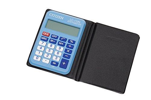 Citizen LC-110NBL Taschenrechner Hellblau - Taschenrechner Anzeige 8-stellige Große