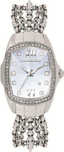 Chronotech CT7930LS/03M - Reloj analógico de mujer de cuarzo con correa de acero inoxidable plateada