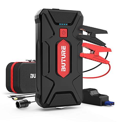 BuTure Starthilfe Powerbank,1600A Spitzenstrom 20000mAh Auto Starthilfe (Bis zu 8.0 L Benzin oder 7.0 L Diesel) mit Schnellladung, EC5 Zigarettenanzünder Adapter und USB-Kabel.