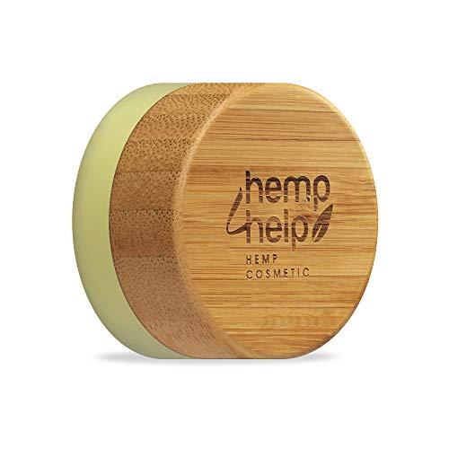 Hemp4Help 100 Prozent Natürlicher feuchtigkeitsspendender Lippenbalsam,Bio Hanf, Natural Bienenwachs, mit Vitamin E und Pfefferminzöl, 1 Dose, Plastikfrei