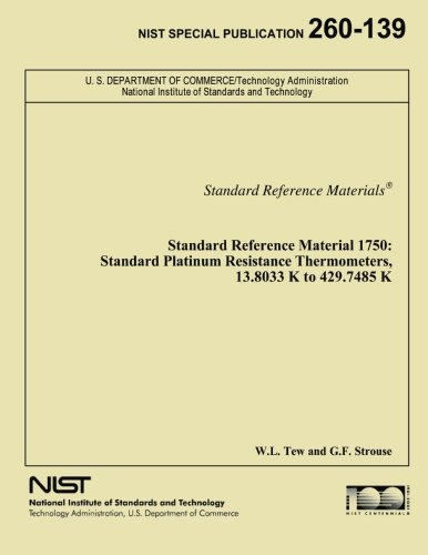 Standard Reference Material 1750: Standard Platinum Resistance Thermometers, 13.8033 K to 429.7485 K -
