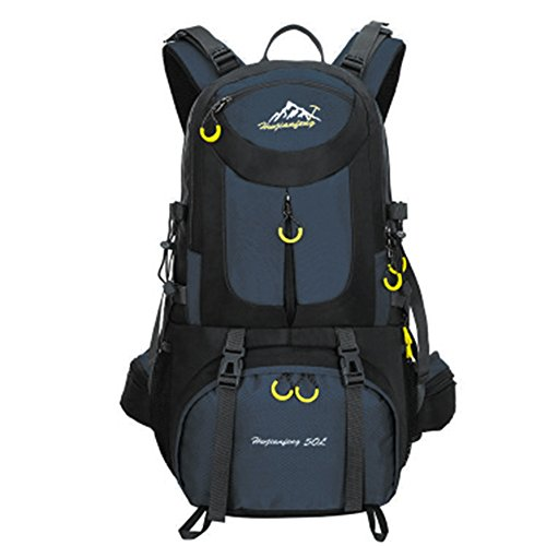 Camping Hiking Backpacking: 50L Hiking Backpack Waterproof Backpacking Outdoor Sport