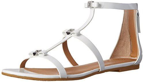Marc By Marc Jacobs Cube Bow Donna US 9.5 Bianco Sandalo Gladiatore