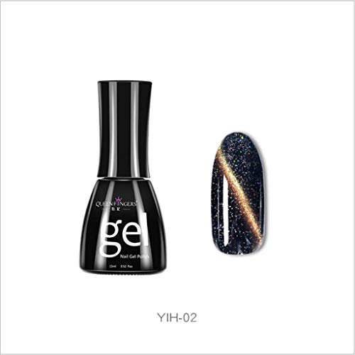 Nagellack Starry 3D Cat Eye Polish Gel Shiny Starry Sky Soak Off Art Nail UV Polish Optisch Aufhellender Effektnagellack Gegen Watopi