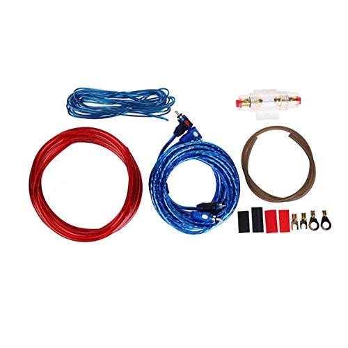 Gugutogo 1 Set Car Audio Connected 8 Gauge Amp Wire Wiring Amplifier Subwoofer Speaker Installation Kit Power Cable Fuse Holder