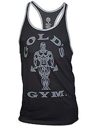 Golds Gym Tank Top Muscle Joe Contrast Stringer Tank