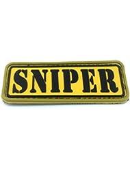 "Parche de PVC, con mensaje ""Sniper"", diseño de airsoft"