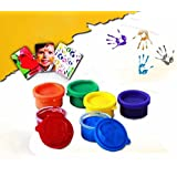 Non Toxic Finger Paint Bottles with Smooth, Mixable Paints for Kids (Assorted Colours, 30 ml) -Set of 6