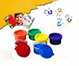 Set of 6 Non Toxic Finger Paint Bottles ...