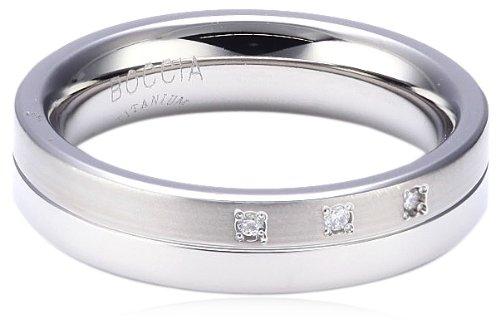 Boccia Damen-Ring teilpoliert Titan 3 Brillianten GR.55 0129-0355