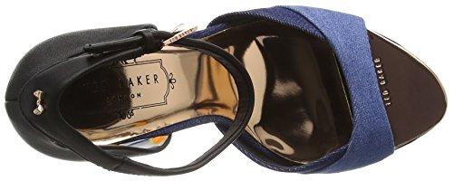 Ted Baker Damen Camiyl Knöchelriemen Schuhe Schwarz (Black/Blue)