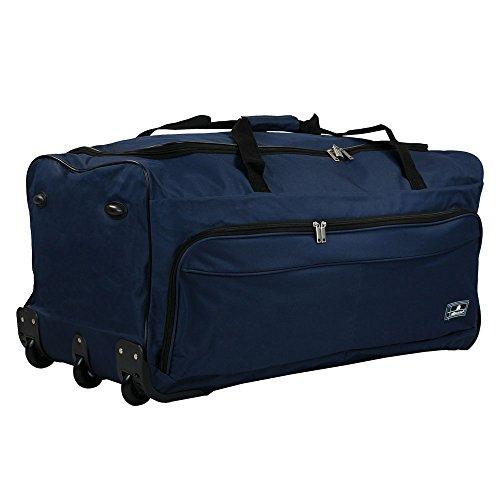 TW24 Reisetrolley - Trolleytasche mit Rollen - Reisetasche 150L - Trolleytasche XXL mit Farbauswahl (Blau)