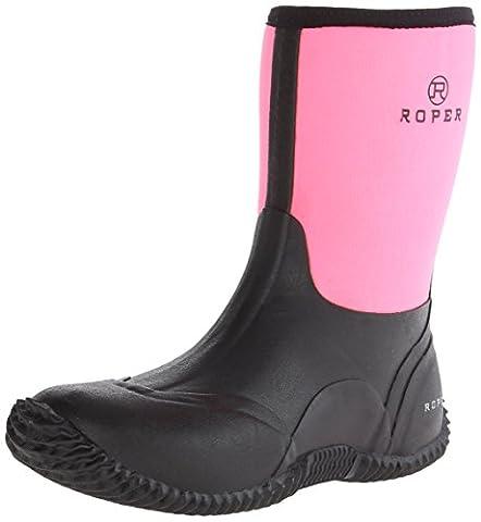 Roper Women's Barnyard Lady Rain Boot, Black, 5 M US