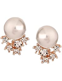 Sheena Gold Plated Pearl Stud Earring For Women