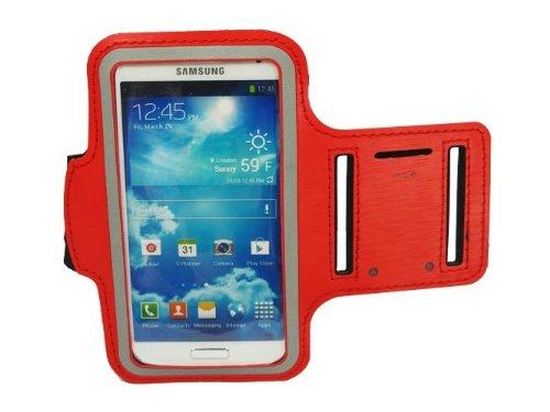 Premium-Top Slim Fit Red laufender Armbinde-Kasten-Abdeckung für Samsung Galaxy S4 SIV i9500 (Top 3131)