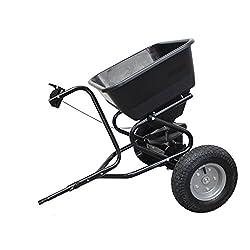 Grafner® Streuwagen mit Anhängerkupplung für Aufsitzmäher - max. 250 kg