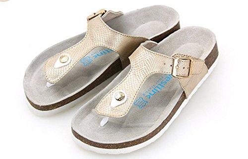 Ciabattina fashion Cork/Fondo piatto donne sandali/Scarpe Infradito F
