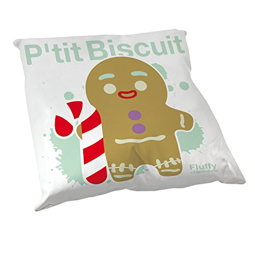 Coussin Décoration P'tit Biscuit happy (Shrek) et canne a sucre Pastel, chibi et kawaii by Fluffy chamalow - Fabriqué en France - Chamalow Shop