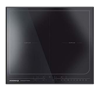 Rosieres RESD4 plaque - plaques (Intégré, Induction, verre-céramique, Noir, toucher, En haut devant)