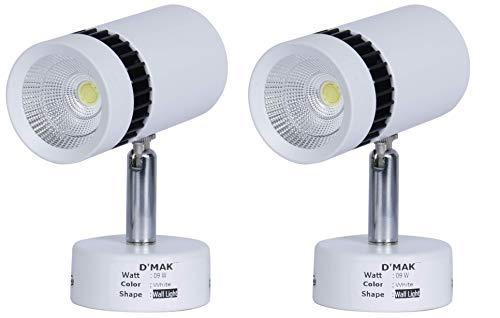 D'Mak 9 watt LED Spot Light for Home, Wall (White) - Pack of 2
