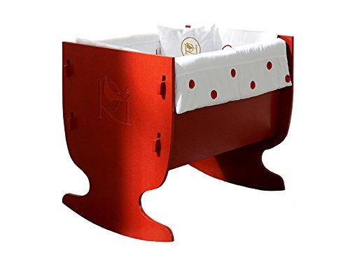Rosabel Davis- Mini cot, 78x80x9 cm, colour red COLECCIÓN ROSABEL rocking mini cot, 78 x 75 x 65 cm ,made in Spain ,easy assembly Cot   rocking mini cot Spanish quality and design 1