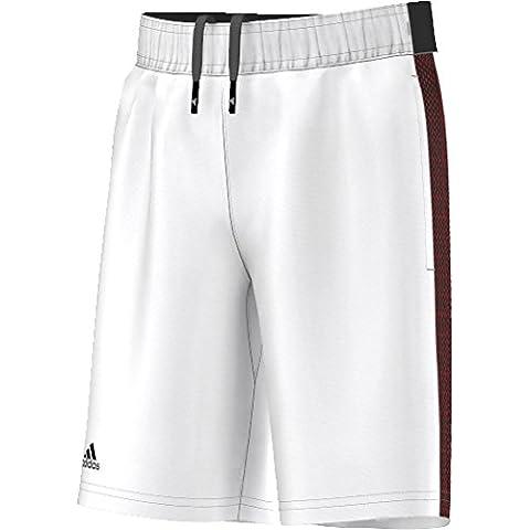 adidas B Bar. Short - Pantalón corto para niños de 11-12 años, color blanco / negro