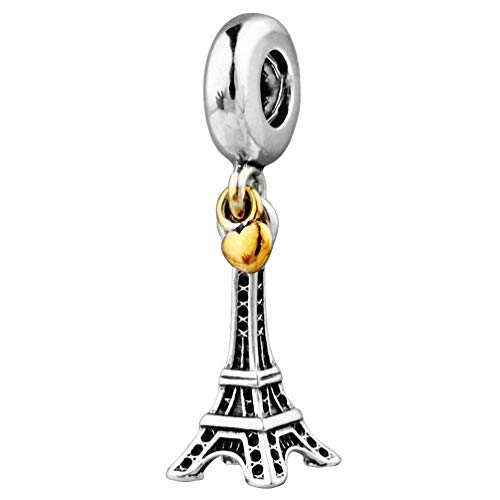 "CHANGEABLE Damen-Charm Baumeln Sterling-Silber 925\""Eiffelturm"
