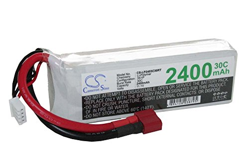 RC LiPo Batteria 11.1V 2400mAh Li-polimero per auto da corsa, elicotteri, diversi aerei e modellini di barche, ecc