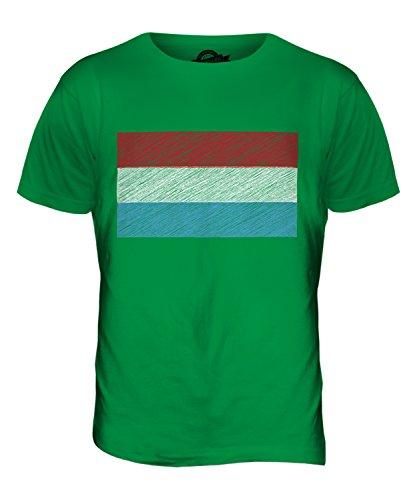 CandyMix Luxemburg Kritzelte Flagge Herren T Shirt Grün