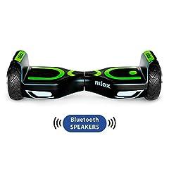 Idea Regalo - Nilox Doc 2 Hoverboard Plus, Unisex Adulto, Nero, Taglia Unica