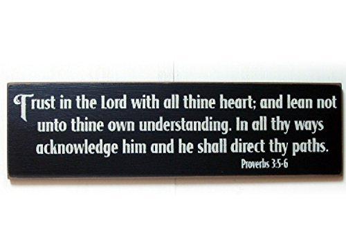 Monsety Home Deko Schild Vertrauen in die Lord mit Alle deinem Herzen Sprichwort 3: 56Holz 30x 30cm Schild Sign Schild Geschenk