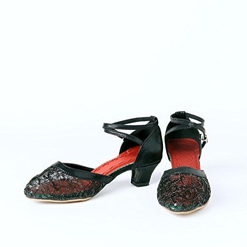 XPY&DGX Latino nero scarpe da ballo, donne adulte in scarpe da ballo, piazza moderna scarpe da ballo, estate fondo morbido tacco alto, 6 230MM