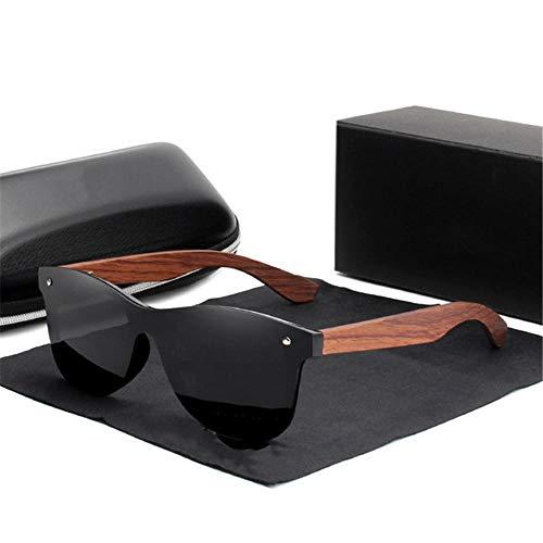 ANSKT Holz Sonnenbrille Herren polarisierte Mode Sonnenbrillen Holz Neue Black_bubinga_Wood
